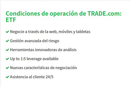 Condiciones de ETFs de TRADE.com